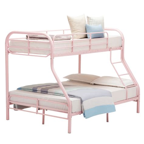 dorm bunk beds twin over full bunk bed metal ladder kid teen dorm loft