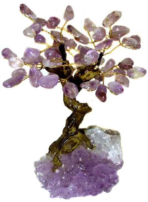 29 95 bonsai amethyst gemstone tree free us ship w 50