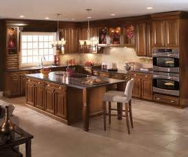 dark cherry kitchen cabinets aristokraft cabinetry