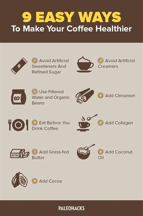 to make 9 easy ways to make your coffee healthier