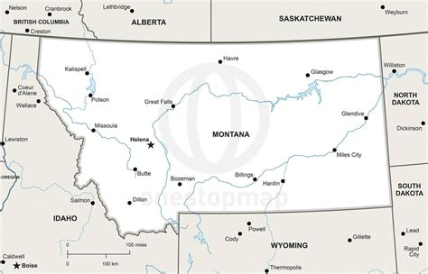 map of rivers in montana blank map of montana rivers