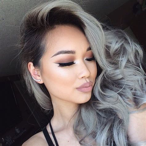 highlights to cover gray hair for asians 13 best images about gray hair cover on pinterest ash