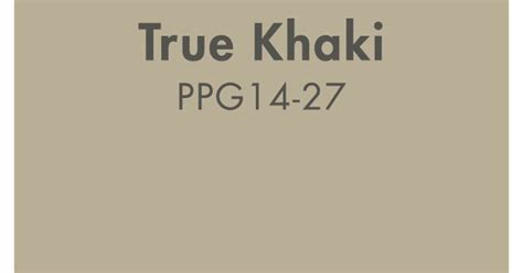 Neutral Colors by True Khaki From Ppg Pittsburgh Paints Is A Classic Neutral