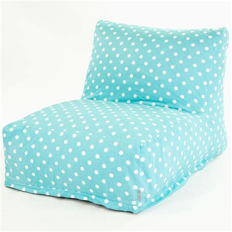 Bean Bags Chairs by Shop Majestic Home Goods Aquamarine Small Polka Dot Bean