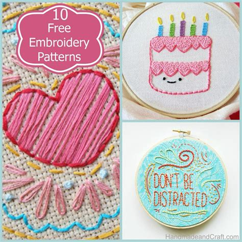 Handmade Embroidery Designs - 10 beautiful and free embroidery patterns