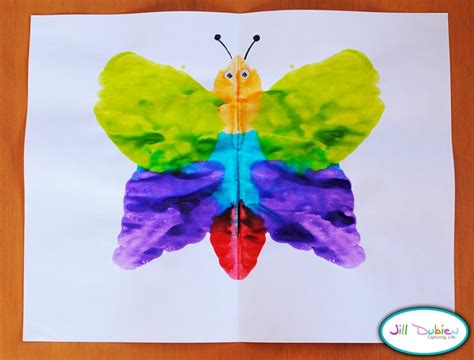 butterfly craft projects mirror image butterflies summer crafts