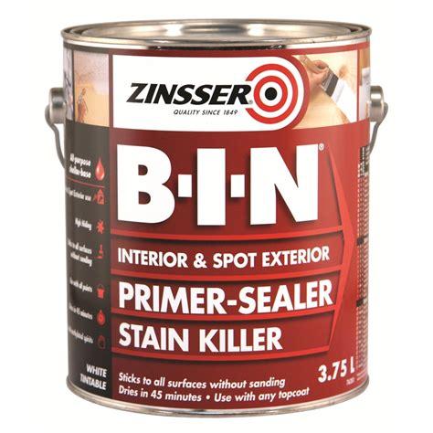 best zinsser primer for cabinets zinsser b i n 3 78l primer sealer stain killer