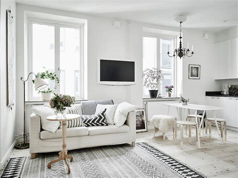 studio apartment interior design scandinavian studio apartment with bright white interiors