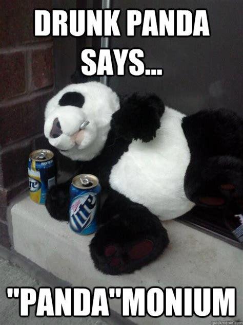 drunk panda memes quickmeme panda monium pinterest