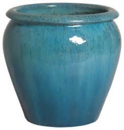 ghouter planter blue small traditional outdoor pots