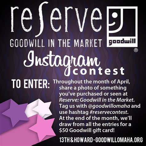 Goodwill Gift Card - have you entered the reserve instagram contest win a 50 gift card goodwill omaha