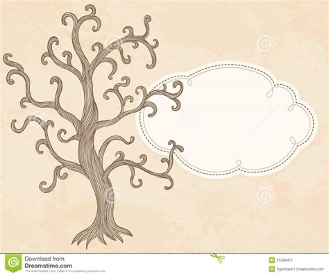 tree place card template vector apple tree and frame invitation card template