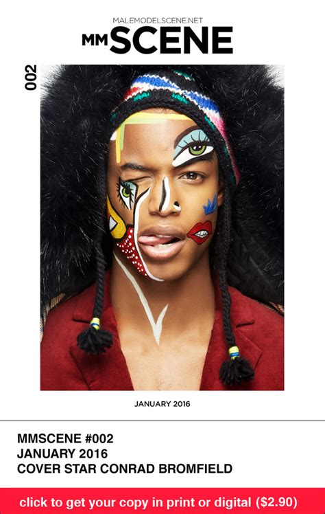 startists the talk magazine winter edition books model of color conrad bromfield for mmscene january 2016