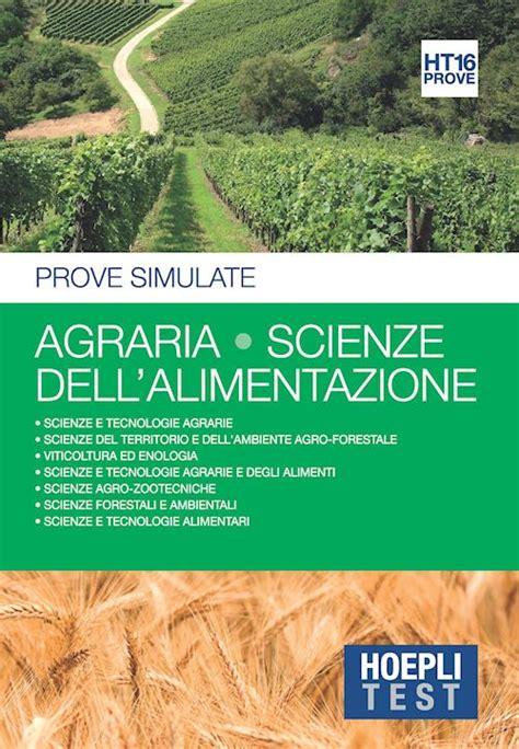 agraria scienze dell alimentazione hoepli test libro