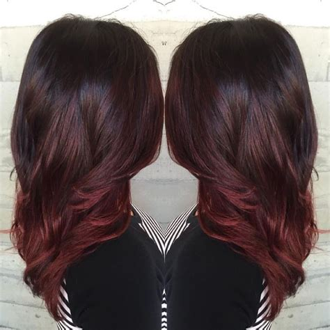 cheveux prune couleur pictures to pin on pinterest burgundy bayalage hair pinterest cheveux coiffures