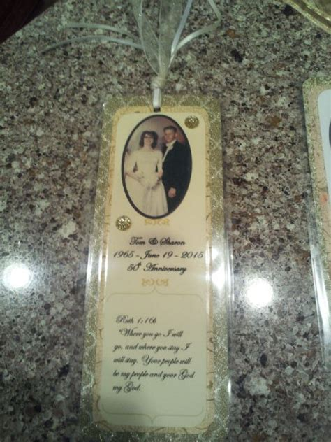 Wedding Anniversary Favors by 50th Anniversary Favor Bookmark Pinteres