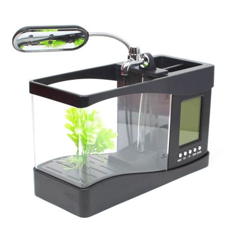 Usb Desktop Aquarium usb desktop aquarium mini fish tank with running water ls0404 black jakartanotebook