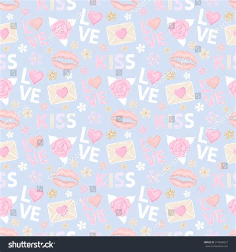 pattern html email vector seamless pattern with rose letter message email