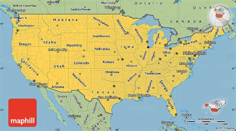 basic map of the united states savanna style simple map of united states