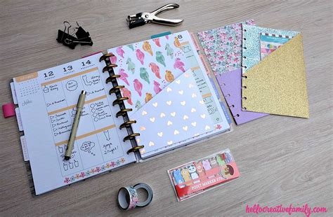 Handmade Planners - how to make diy planner folder pockets for happy