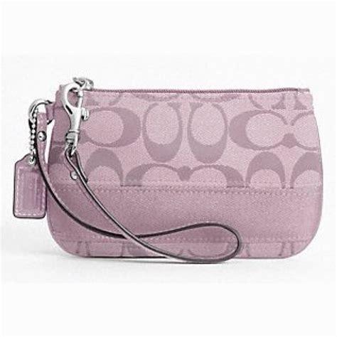 couch wristlet coach signature stripe small wristlet 45608 lavender