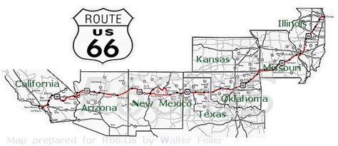 route 66 map texas map of route 66