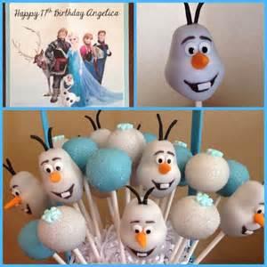 Disney frozen cake pops the cake lovers
