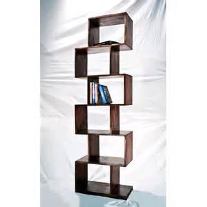 libreria zig zag libreria zig zag colore scuro in legno massello di acacia