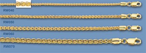14k solid gold wheat chains. Imported, solid 14k gold, finished and polished by hand.