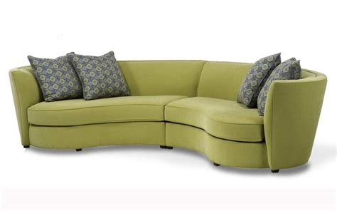 Curved Fabric Sofa with Custom Curved Shape Sofa Avelle 232 Fabric Sectional Sofas