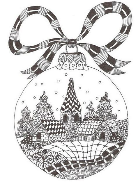 google printable christmas adult ornaments winter ornament zentangle free printable coloring page coloring