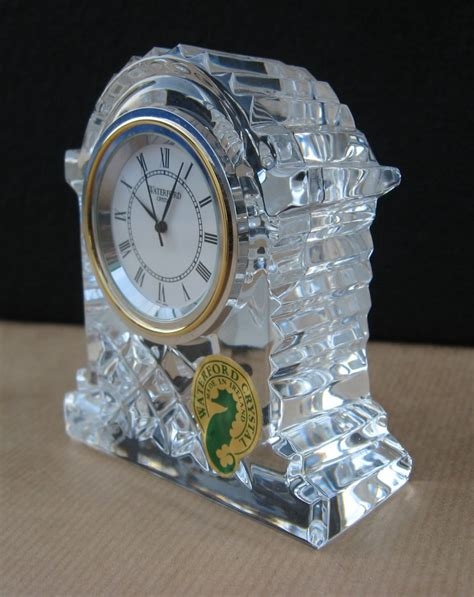 waterford crystal small carriage clock    ireland