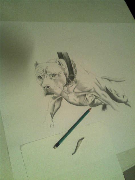 imagenes tiernas en lapiz dibujo realista de american pitbull perro p a lapiz