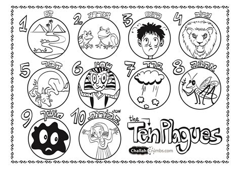 free 10 plagues of egypt coloring pages