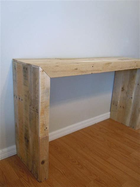 Diy Console Table Diy Pallet Console Table Pallet Furniture Plans