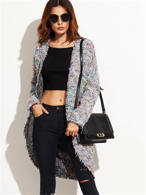 Pompom Tweed Jacket Multicolor M buy two pockets pompom tweed jacket multicolor at