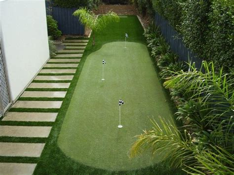 backyard green putting green sports golf putting greens pinterest