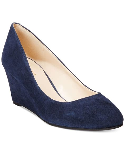 Top Five Navy Heels by Lyst Nine West Ispy Wedge Pumps In Blue