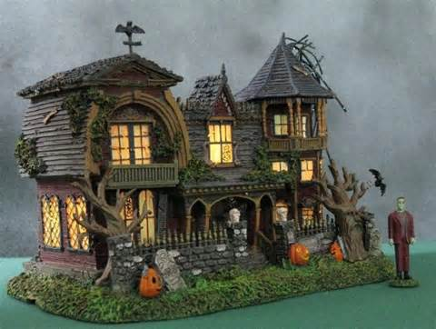halloween village houses hawthorne halloween village herman munsters house m