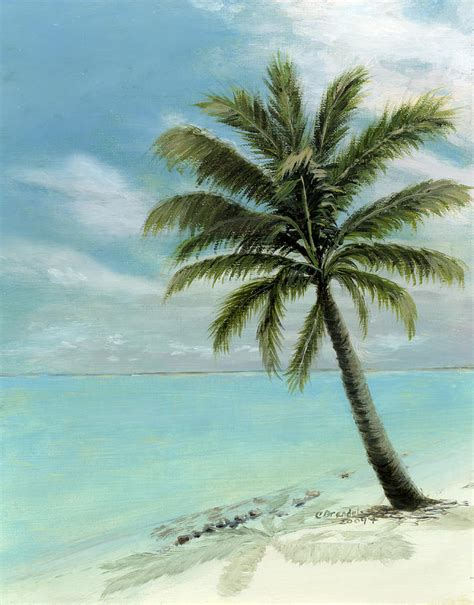 tree portraits palm tree study painting by cecilia brendel