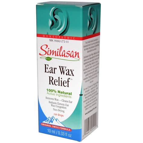 ear drops similasan ear wax relief ear drops 0 33 fl oz 10 ml iherb
