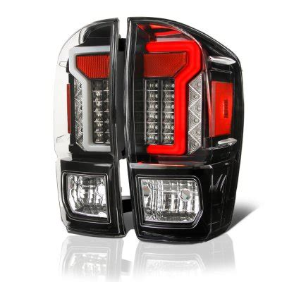 2017 tacoma aftermarket tail lights toyota tacoma 2016 2017 black custom led tail lights
