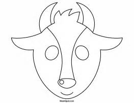 Goat Template Printable by Printable Goat Mask