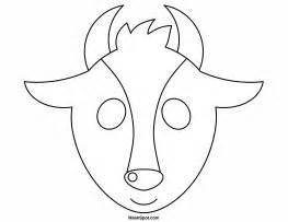 goat template printable printable goat mask