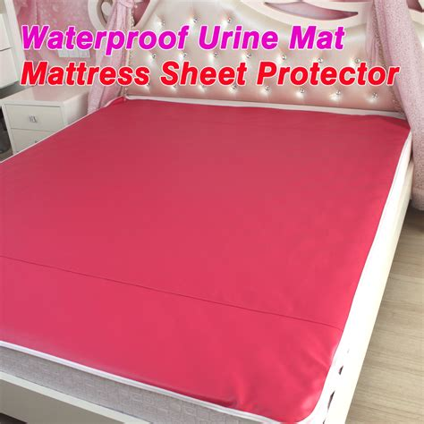 pu leather waterproof mattress sheet protector pad cover