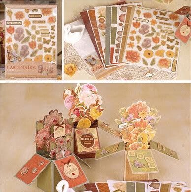 Handmade Wedding Cards For Sale - aliexpress buy vintage card in a box kit