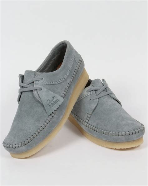 clarks originals weaver suede shoes pastel blue