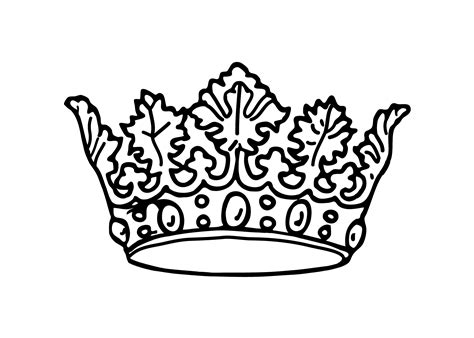 printable image of a crown free printable crown coloring pages sketch coloring page