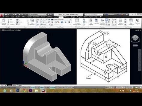 tutorial autocad mechanical autocad mechanical modeling tutorials visit sabeercad com