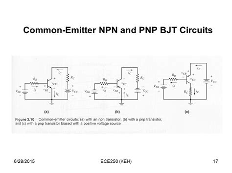 npn transistor in common emitter 4 17 2017 ece250 keh ppt